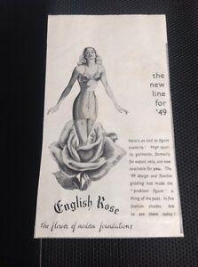 f1h-Ephemera-1949-Advert-English-Rose-New-Line-For-49-Austerity