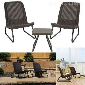 Patio Bistro Set Piece Wicker Outdoor Dining Furniture All Weather - All weather outdoor dining table