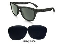 467e3f43d4 Galaxy Replacement Lens for Oakley Frogskins Sunglasses Stealth Black  Polarized