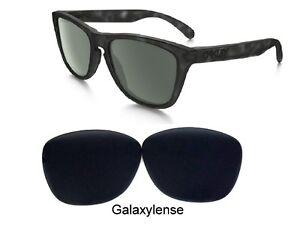Galaxy-Lente-Repuesto-para-Oakley-Frogskins-Gafas-de-Sol-Stealth-Negro
