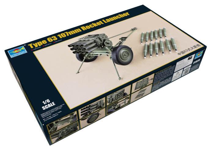 Trumpeter Trumpeter Trumpeter 9361920 PLA Type 63 107mm Mehrfachraketenwerfer MLR 1 6 Modellbausatz 28b572