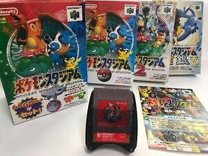Lot Nintendo 64 Pocket Monsters' Stadium1,2,Gold&Silver,GB Pack,GB red set JP