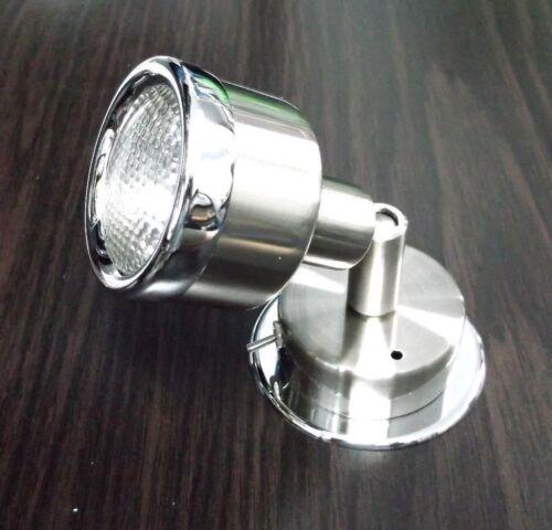 BBT 12 v Brushed Nickel /& Chrome Marine Grade Cool White LED Reading Lamp