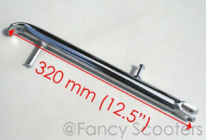 Dirt-Bike-or-Pit-Bike-Kick-Stand-about-12-5-034-long-in-Chrome-22mm-Dia-PART04168