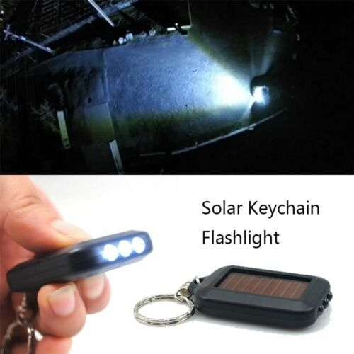 Portable Camping Night Lamp Mini Solar Power Flashlight Key Chain Light