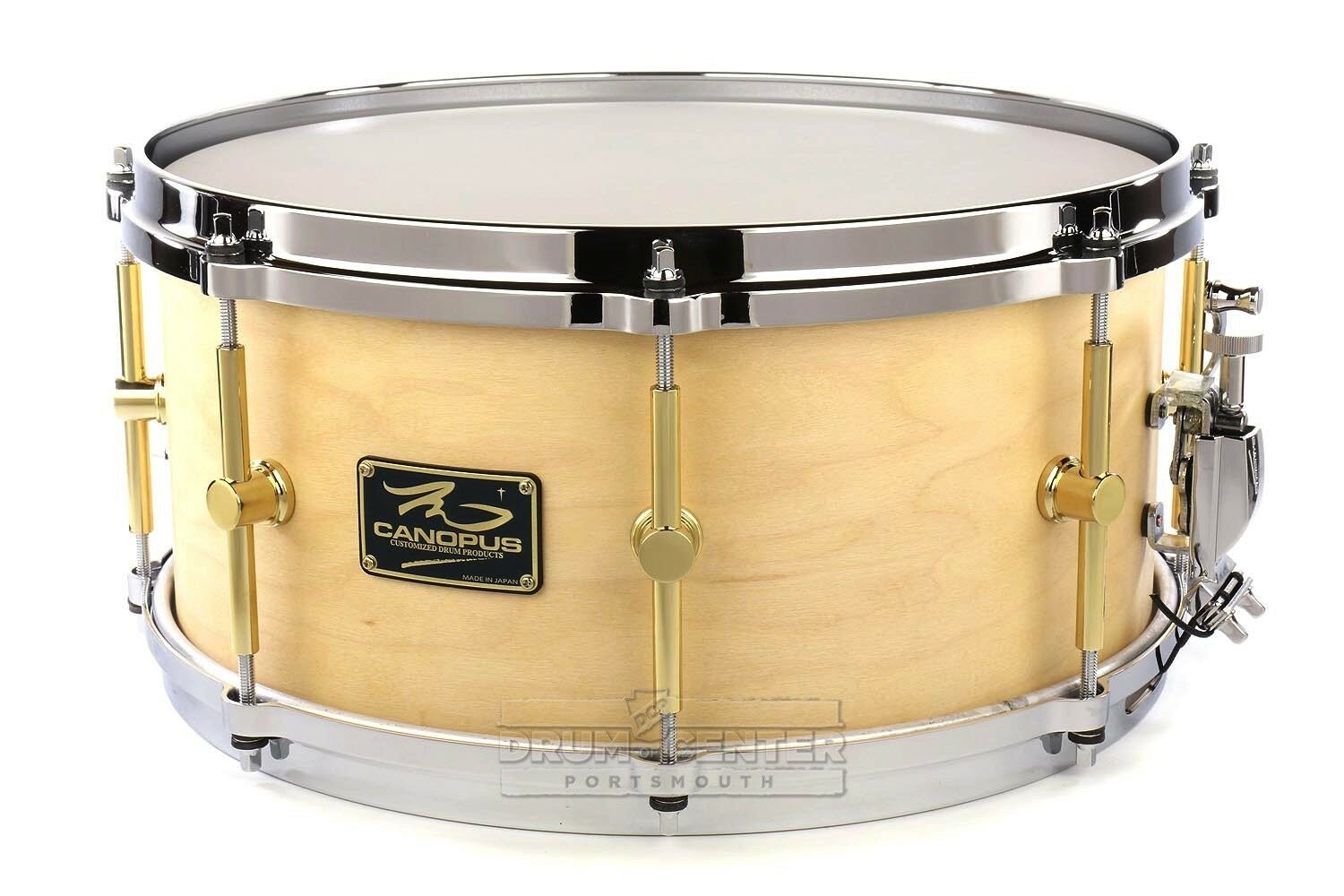 Canopus 'The Maple' Snare Drum 14x6.5 Natural Oil w  Cast Hoops - Video Demo