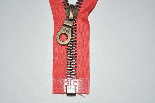 Reißverschluss rot-orange 68 cm 8 mm riri Swiss Zipper