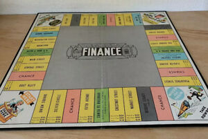 1955-THE-GAME-OF-FINANCE-Board-Game-Parts-Game-Board-Parker-Brothers