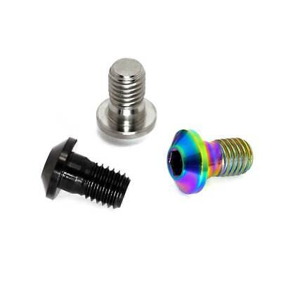 Oilslick Black TLC BIKES Titanium BMX Brake Lug Bolts Rainbow Natural