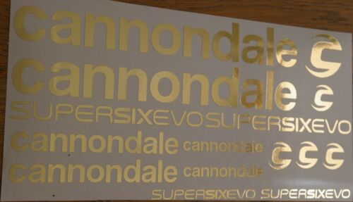 Silver,gold Decals fit Cannondale SuperSix EVO 2020 Stickers rainbow chrome