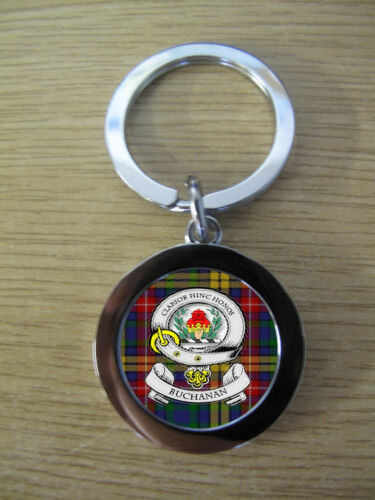 IMAGE DISTORTED TO PREVENT INTERNET THEFT METAL BUCHANAN CLAN KEY RING