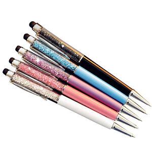 5 pcs/lot Crystal Diamond Pen Ballpoint Pens Office School Stationery suppl PF