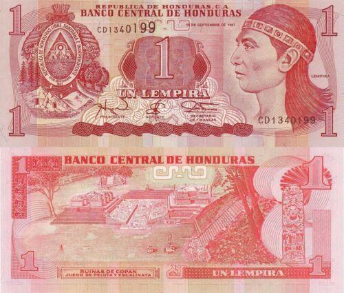 14.9.1997 Ruins//Lenca Chief //p79A UNC Honduras 1 Lempira