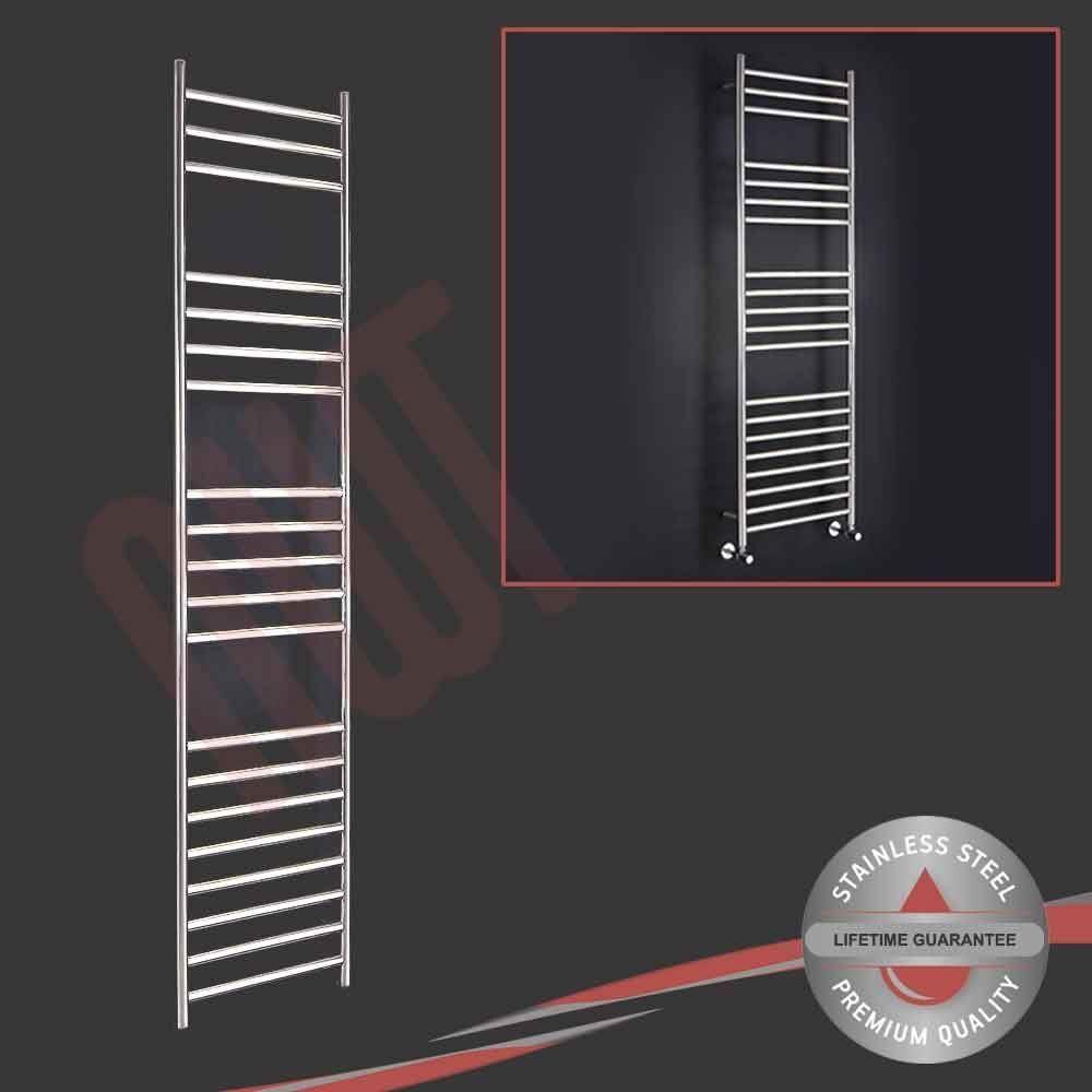 350 mm (w) x 1600mm (h) en acier inoxydable poli porte-serviettes radiateur 1611 BTU