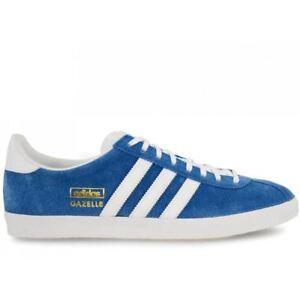 achats grandes marques dernière remise Détails sur Adidas Hommes Gazelle Og Baskets Lacet Décontracté Bleu (G16183)