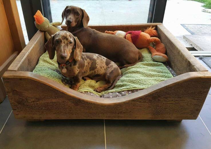 SOLID WOODEN LATTED DOG BEDS - ALL SIZES - MADE TO MEASURE