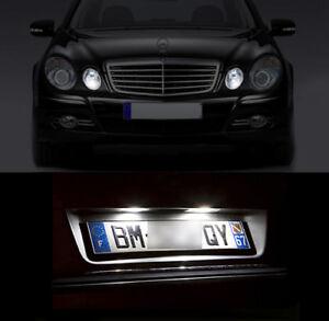 4-ampoules-LED-Blanc-Veilleuses-eclairage-plaque-Mercedes-classe-E-W211-C-W203