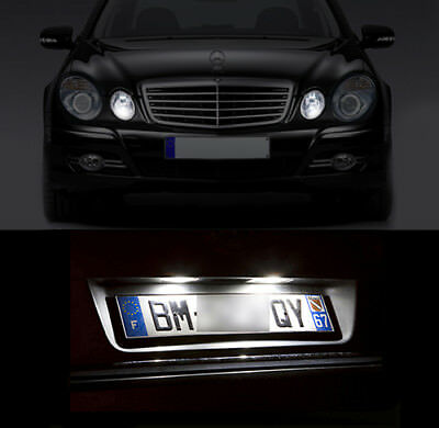 2x Mercedes M-Class W164 Bright Xenon White LED Number Plate Upgrade Light Bulbs