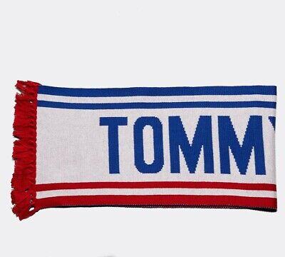 Sportivo Da Donna Tommy Jeans Grassetto Logo Rosso/blu Sciarpa Rrp £ 44.99-mostra Il Titolo Originale