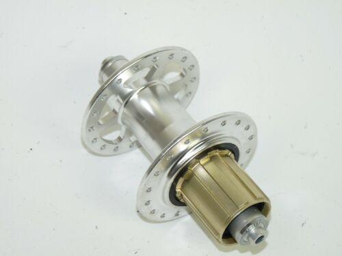 Silver 36h Cassette Freehub rear road wheel hub chrome silver sealed bearing 10s
