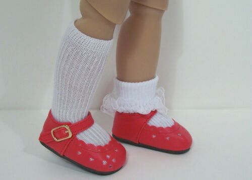"""Debs RED Heart Cut-Out SM Doll Shoes For Sonja Hartmann 18/"""" Kidz n Cats"""