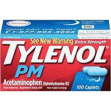 Tylenol PM Extra Strength Caplets, 100 Caplets Exp. 03/18