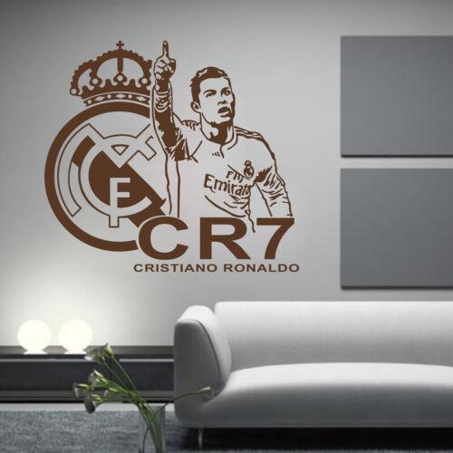 Football Soccer Player Cristiano Ronaldo Real Madrid Wall Sticker CR7 Art Decal