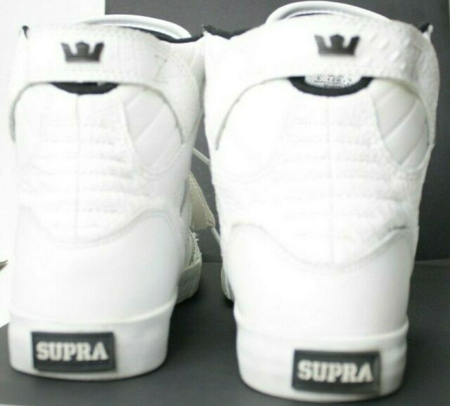Supra Skytop Hi Top Sneaker Shoes White Croc Edition Women Size 9 98003-140-M