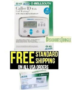 BELLSOUTH CALLER ID CALL WAITING DELUXE,VOICE MAIL /& MORE FUNCTIONS CI-7112 NEW