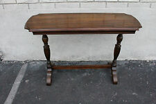 Great 1930 Jacobean Style American Made Walnut Hall Sofa Console Table