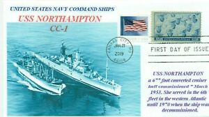 Uss-Northampton-CC-1-Nazionale-Command-Nave-Foto-Navale-Cover-Primo-Day-Of-Issue