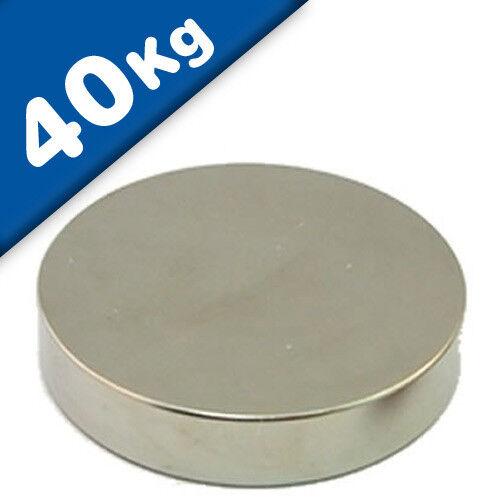 Nickel NdFeB hält 40kg Scheibenmagnet // Rundmagnet Ø 50x10mm – Neodym N40