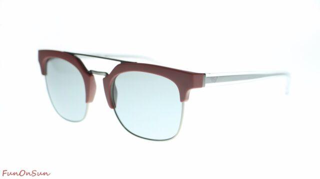 1ccfc19b33e Emporio Armani Mens Square Sunglasses EA4093 55771 Matte Bordeaux   Grey  Lens