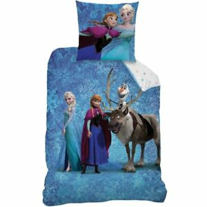 Frozen-Elsa-Anna-Olaf-Bed-Cover-Pillow-63x63cm-Duvet-Cover-140x200cm