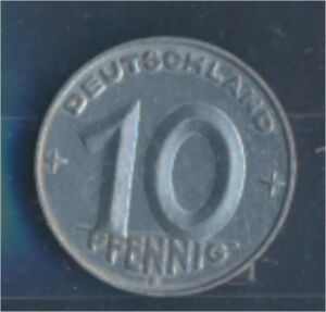 DDR-Jaegernr-1507-1953-E-vorzueglich-Aluminium-1953-10-Pfennig-7849358