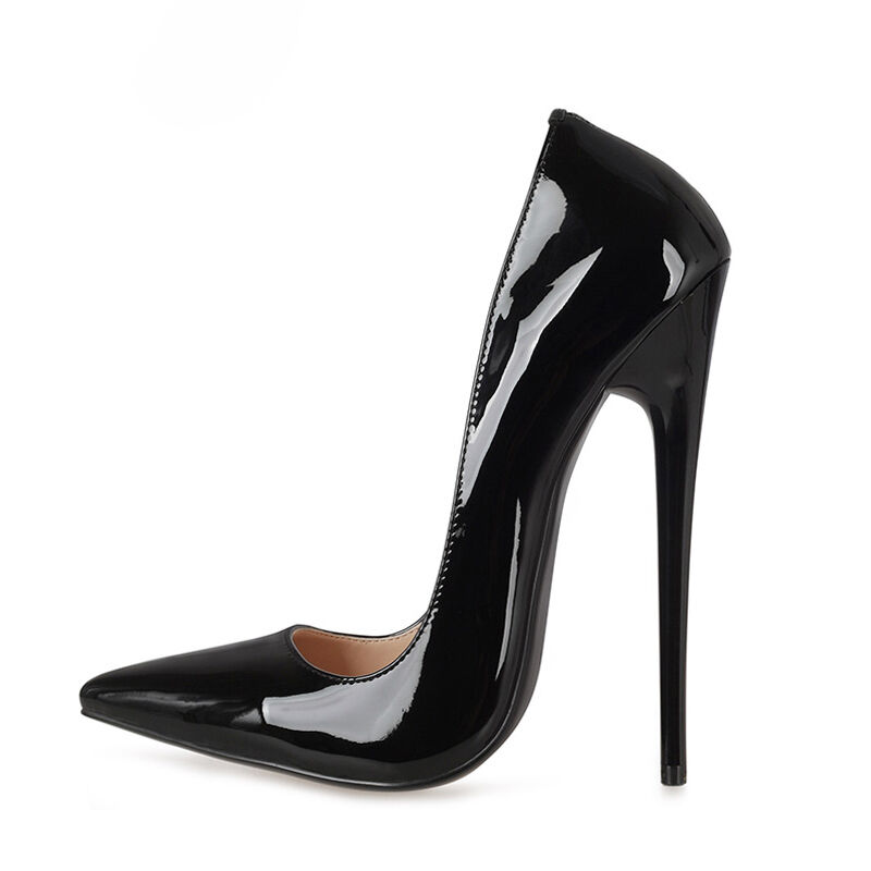 Sexy High Heel 16cm femmes Stiletto Patent Leather Pumps Party Pointed Toe chaussures