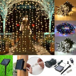 300-LED-Solar-Powered-Fairy-String-Light-Lamp-Outdoor-Garden-Xmas-Party