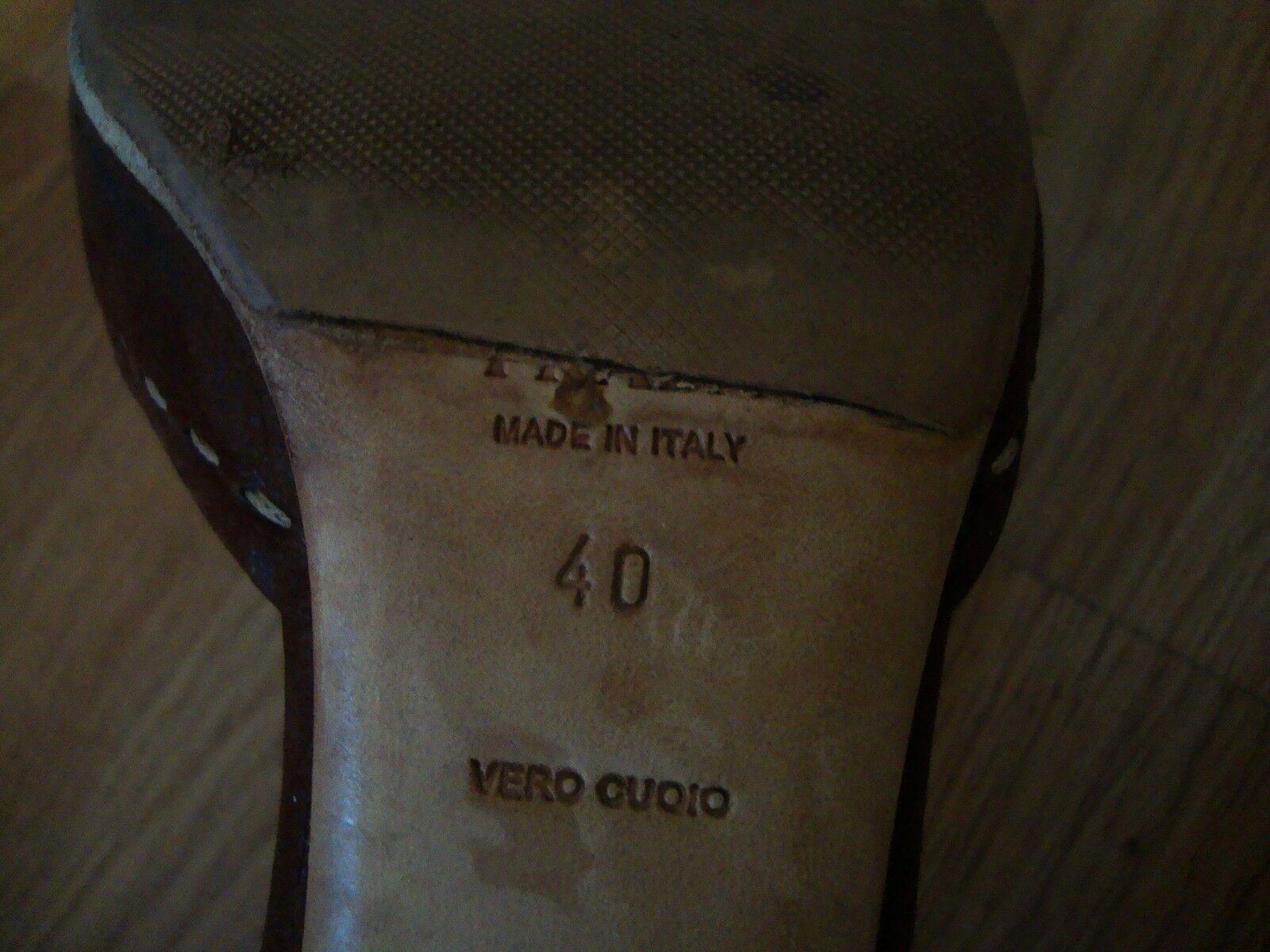 Prada BROWN Leder Leder Leder Buckle Vamp D'orsay Sz 40 EU OR 9 US ITALY 480 6fdc47