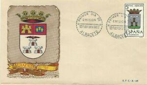 FDC-Erste-Dia-Spanien-1962-Wappen-Albacete