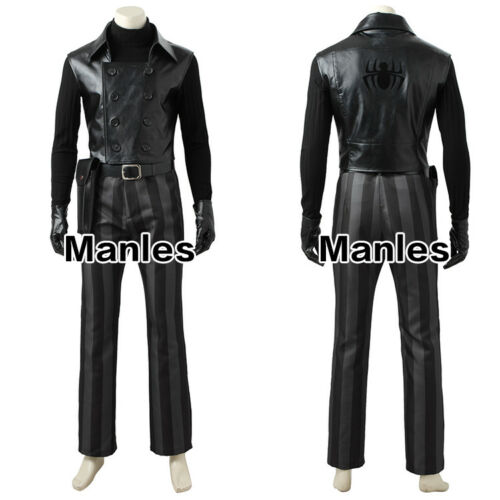 2017 Spiderman Noir Cosplay Costume Halloween Christmas Fancy Dress Outfit Vest