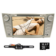 "HD 8"" Car DVD Player Radio Stereo GPS Navigation for Toyota Camry 2007-2011+ Cam"