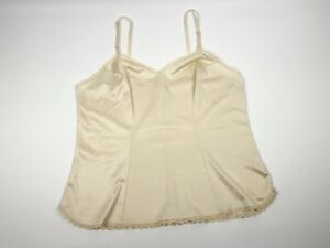 Vintage-Ivory-Vanity-Fair-All-Nylon-Camisole-Cami-Under-Garment-Lingerie-Size-38