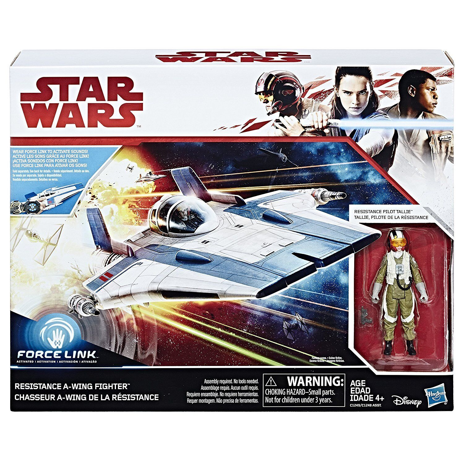STAR WARS FORCE LINK RESISTANCE A-WING FIGHTER AND RESISTANCE PILOT TALLIE