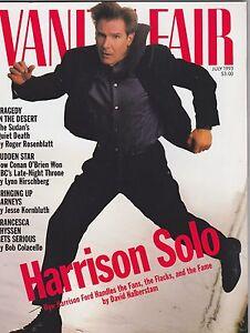 JULY-1993-VANITY-FAIR-vintage-magazine-UNREAD-NO-LABEL-HARRISON-FORD