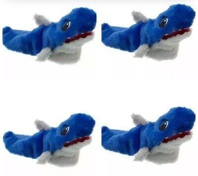 Toddler Boys Plush Blue Shark Bite Slippers House Shoes