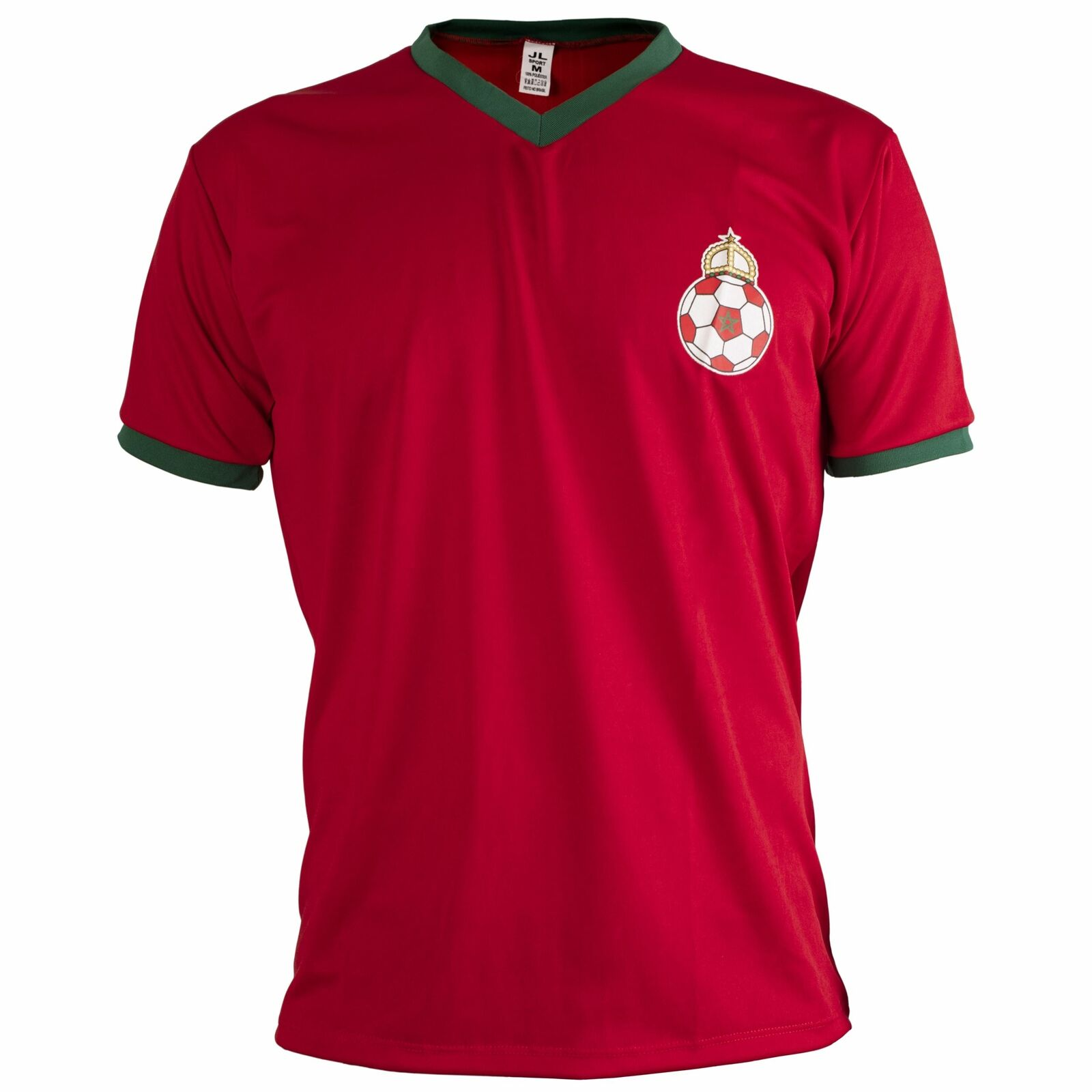 Marokko Hemd Retro Fußball Kurzärmelig Herren Top  | Vorzüglich