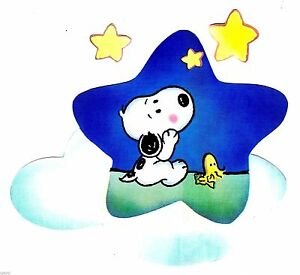 Snoopy bathroom set - 5 8 Quot Baby Snoopy Woodstock On Star Set Wall Safe Sticker