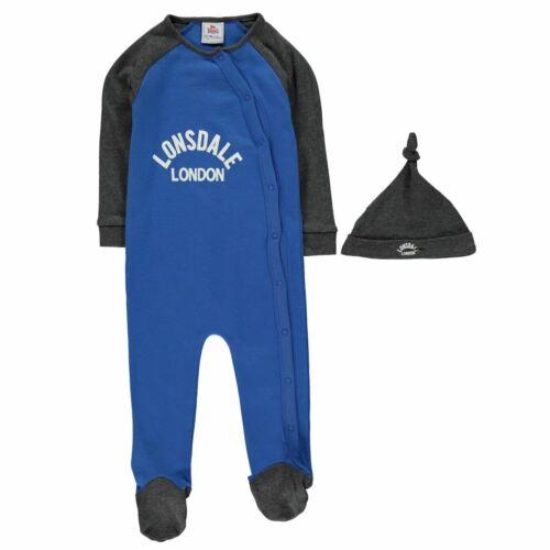 Lonsdale Baby Kids Sleepsuit Baby84 Rompers Sleep Suit