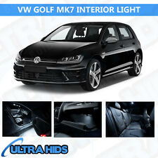 VW GOLF MK7 VII 8 PIECE WHITE INTERIOR UPGRADE ERROR FREE LED LIGHT KIT SET SMD