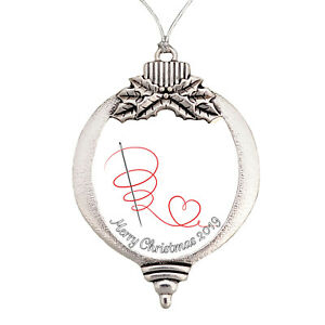 Sewing-Cross-Stitch-Quilting-Merry-Christmas-2019-Bulb-Silver-Metal-Ornament